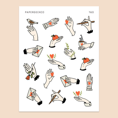 Hands Stickers 160 - PapergeekCo