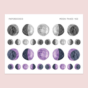 Moon Phase Stickers 163 - PapergeekCo