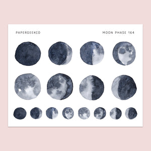 Moon Phase Stickers 164 - PapergeekCo