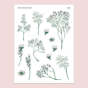 Baby Breath Stickers 168 - PapergeekCo