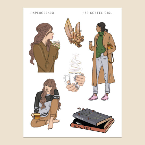 Coffee Girls Stickers 172 - PapergeekCo