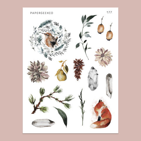 Serene - Nature Elements Stickers 177 - PapergeekCo