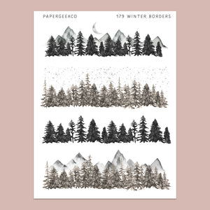 Into the Woods - Border Stickers 179 - PapergeekCo
