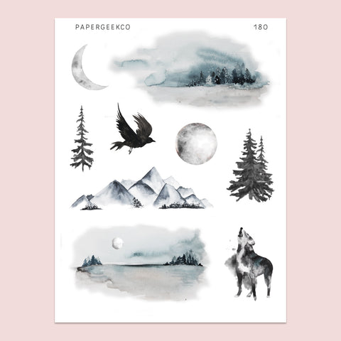 Into the Woods Stickers 180 - PapergeekCo