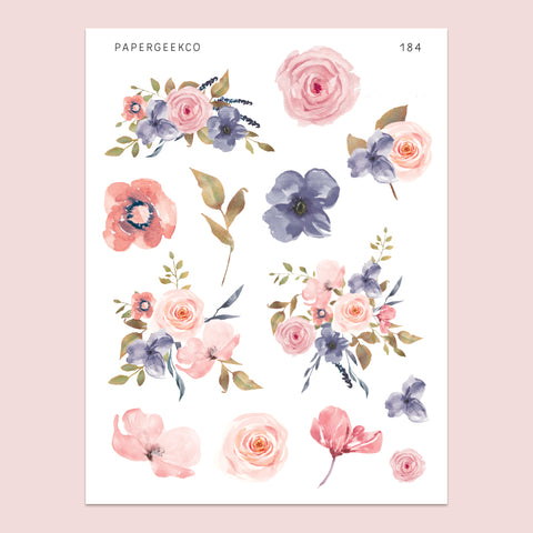 Serena - Floral Stickers 184 - PapergeekCo