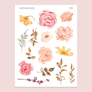 Romantic Roses Stickers 185 - PapergeekCo