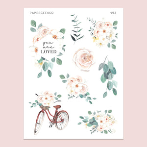 Spring Floral Stickers 192 - PapergeekCo