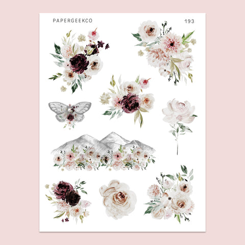 Anya Floral Stickers 193 - PapergeekCo