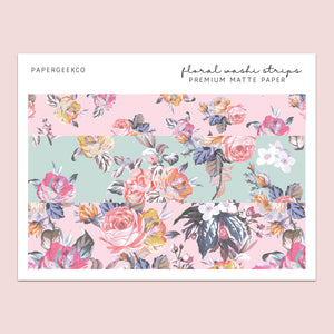 Floral Washi Strips 194 - PapergeekCo