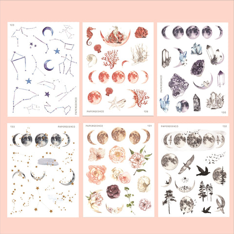 Celestial Stickers Bundle 6 sheets (save 15%) - PapergeekCo