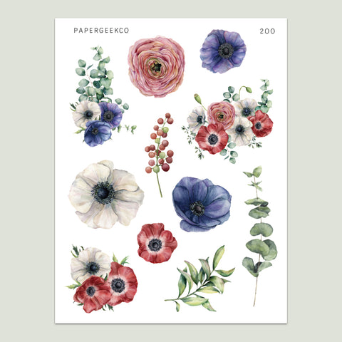 Anemone Stickers 200 - PapergeekCo