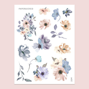 Fleur Floral Stickers 204 - PapergeekCo