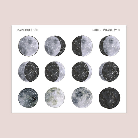 Moon Phase Stickers 210 - PapergeekCo