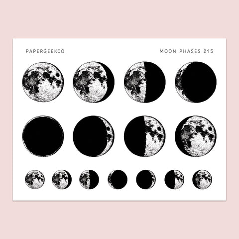 Moon Phase Stickers 215 - PapergeekCo