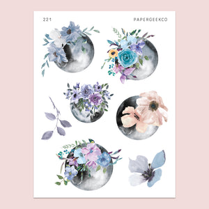 Adorned Moon Stickers 221 - PapergeekCo
