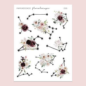 Floralscope - Constellation Stickers 225 - PapergeekCo