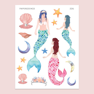 Mermaid Stickers 226 - PapergeekCo