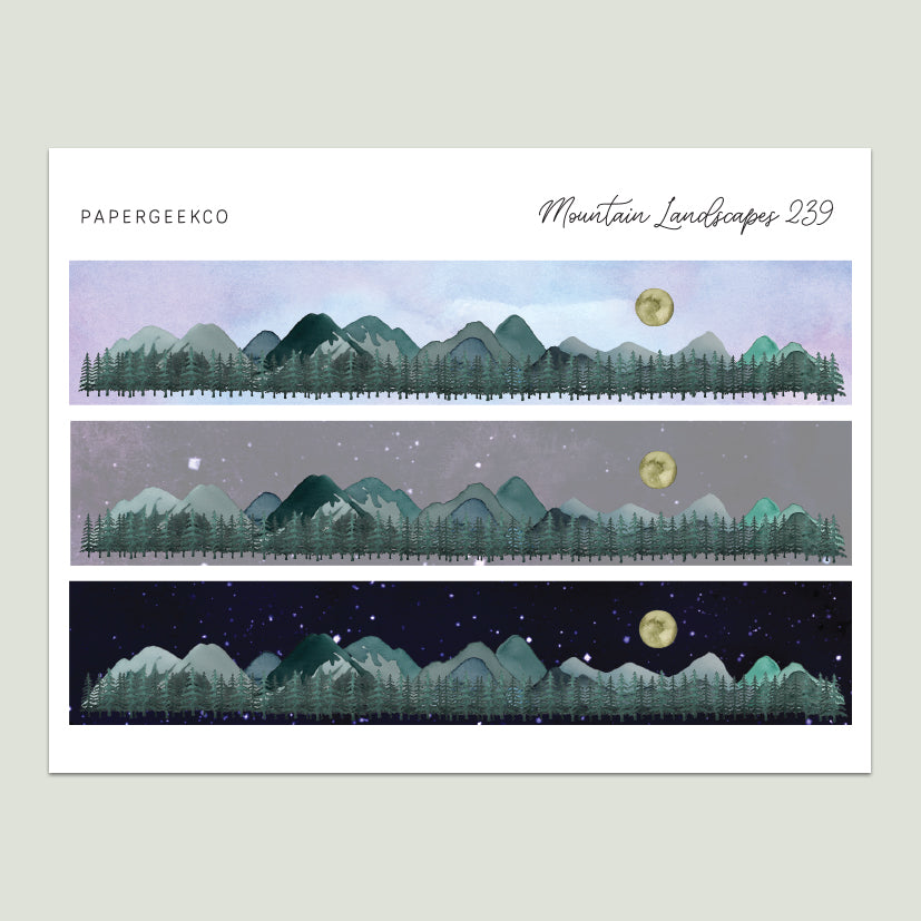 Mountain Landscape Washi Strips 239 - PapergeekCo