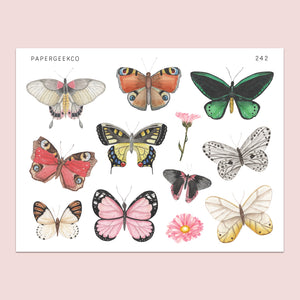 Butterfly Stickers 242 - PapergeekCo