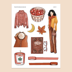 Autumn Fashion Stickers 251 - PapergeekCo