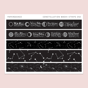 Constellation Washi Strips 252 - PapergeekCo