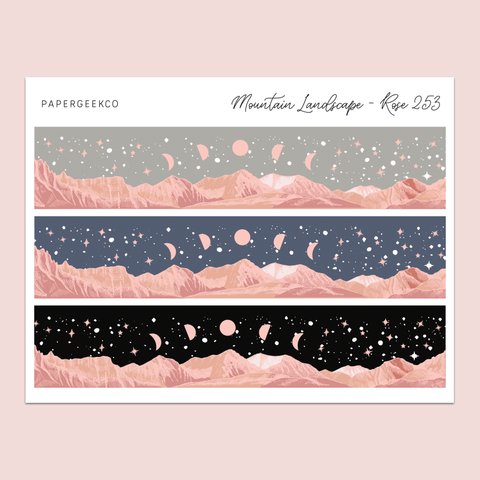 Mountain Landscape Washi Strips 253 - PapergeekCo
