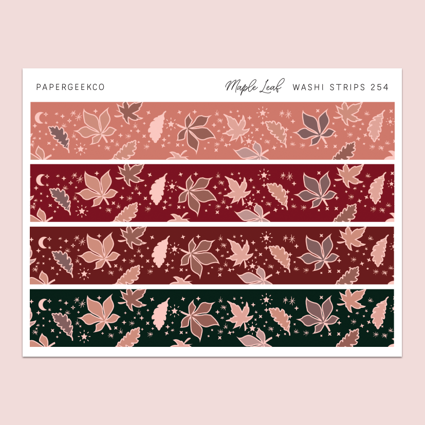 Maple Leaf Washi Strips 254 - PapergeekCo