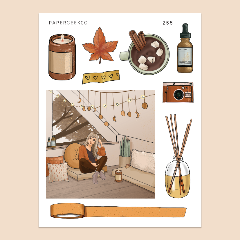 Warm & Cozy - Autumn Stickers 255 - PapergeekCo