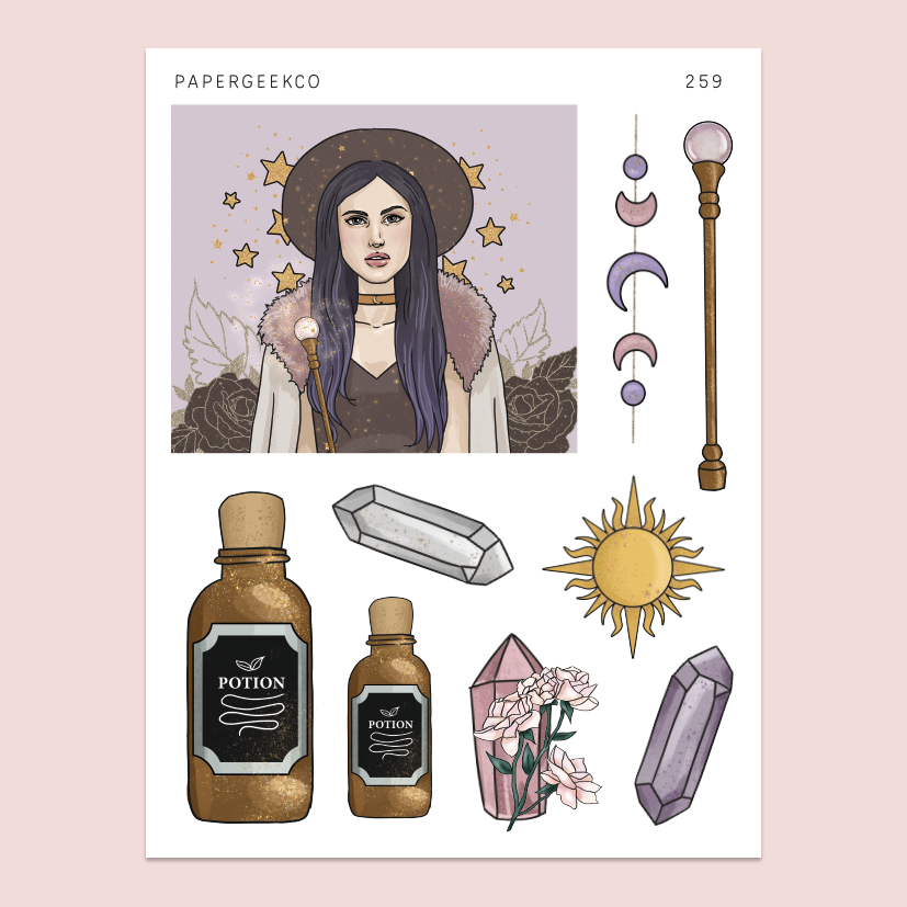 Celestial Witchcraft Stickers 259 - PapergeekCo