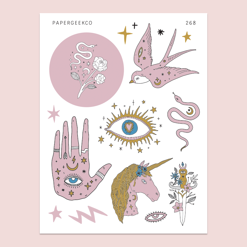Boho Witchcraft Stickers 268 - PapergeekCo