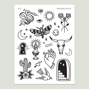 Mono Witchcraft Stickers 272 - PapergeekCo