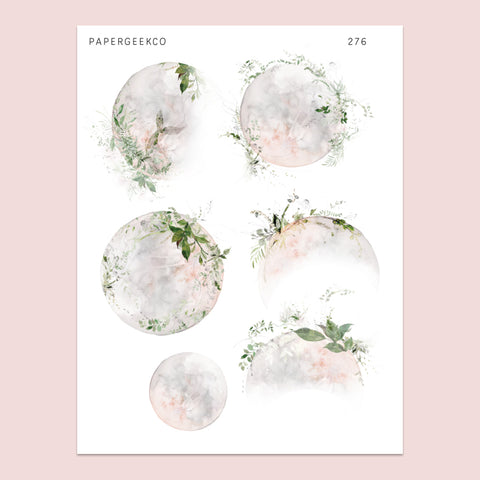Adorned Moon Stickers 276