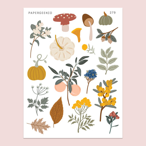 Autumn Botanicals Stickers 279