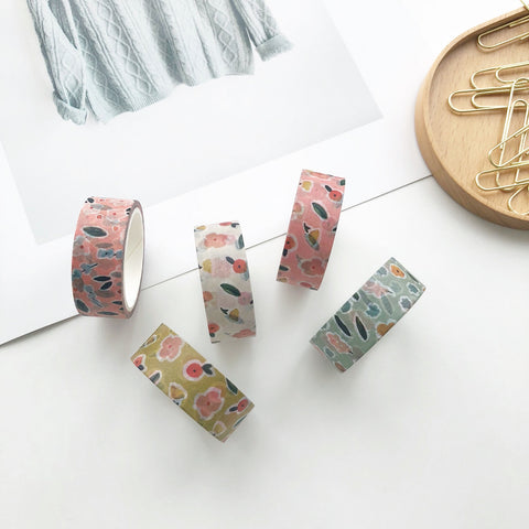 Kissing Tiny Flowers - Floral Washi Tape - PapergeekCo