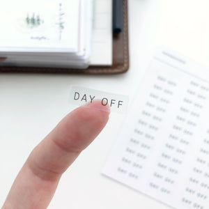 Day Off Clear Stickers - PapergeekCo