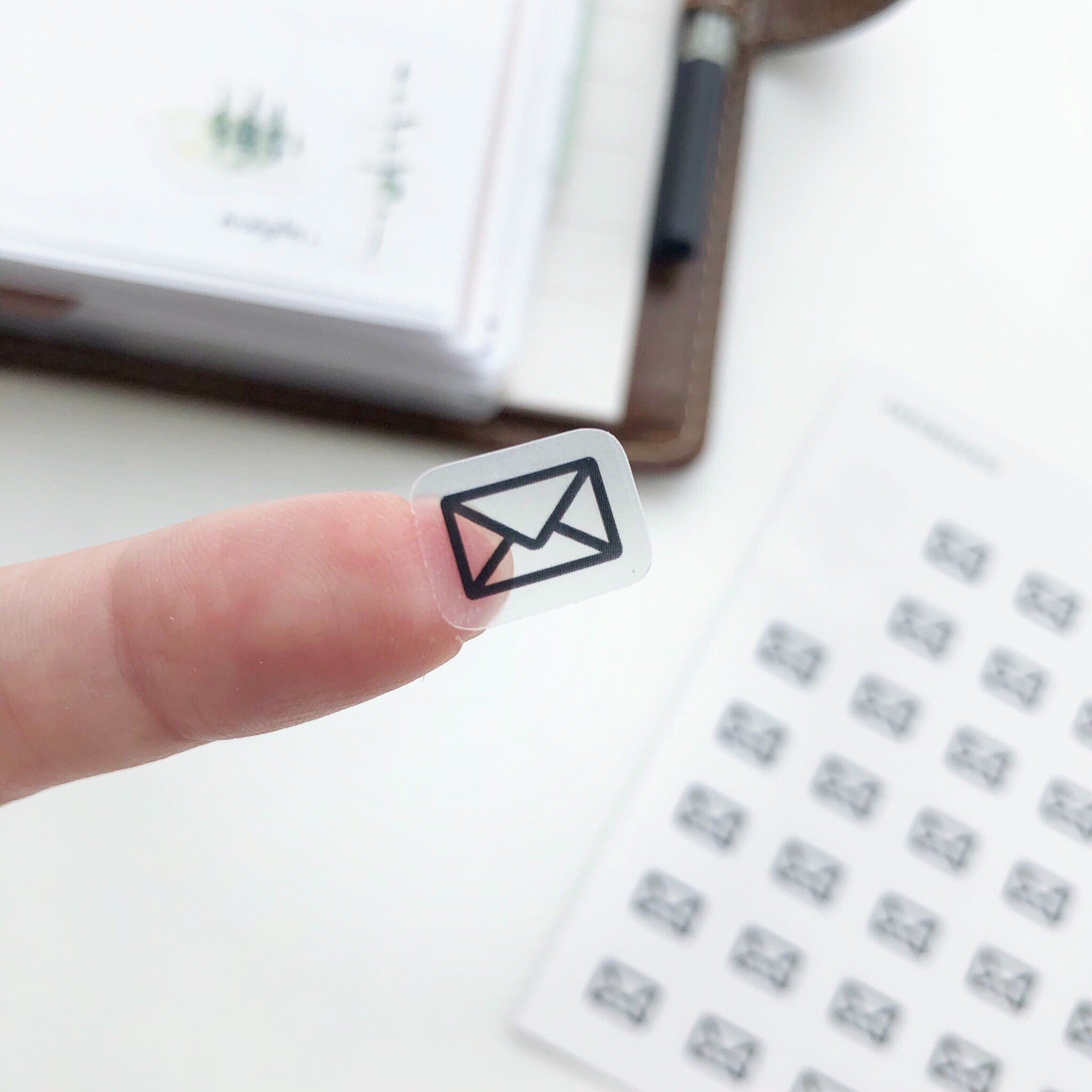 Email Clear Stickers - PapergeekCo