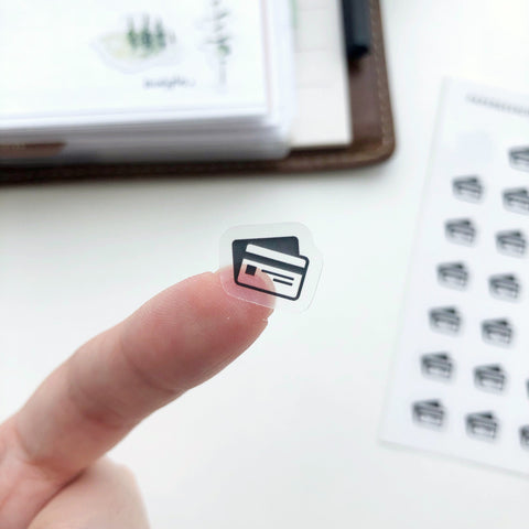 Credit Card Clear Stickers - PapergeekCo