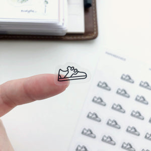 Sneakers Clear Stickers - Workout Stickers - PapergeekCo