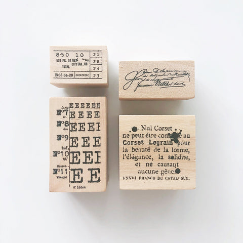 Journaling Rubber Stamp