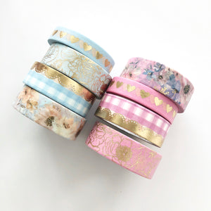 Spring Meadows Floral Washi Tape Set - PapergeekCo