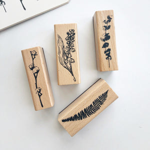 Botanical Rubber Stamp vol.2 Set of 2 - PapergeekCo