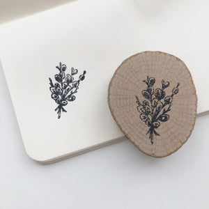 Floral Bouquet Rubber Stamp - PapergeekCo