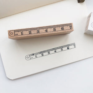 Ruler Rubber Stamp - PapergeekCo