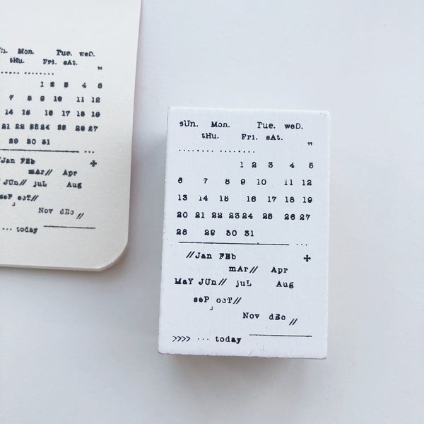 Calendar Rubber Stamp - PapergeekCo