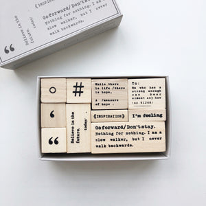 Symbol Rubber Stamp Set - PapergeekCo
