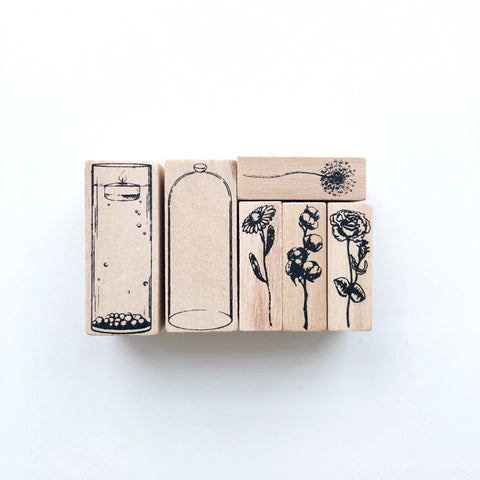 Botanical Specimen Rubber Stamp set - PapergeekCo