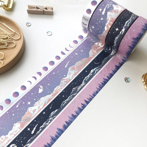 Moonlit Aurora Washi Tape (LAST CHANCE) - PapergeekCo
