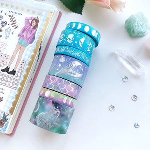 Iridescent Mermaid Washi Tape (FEB Release) - PapergeekCo