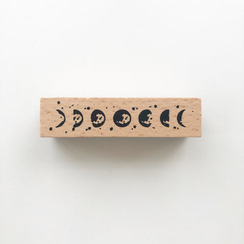 Moonphase Rubber Stamp - PapergeekCo
