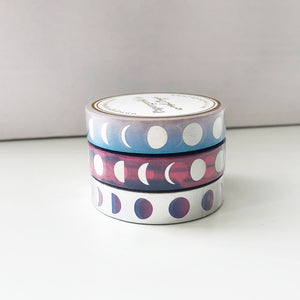 Moon Phase Washi Tape - Holographic Foil (LAST CHANCE) - PapergeekCo